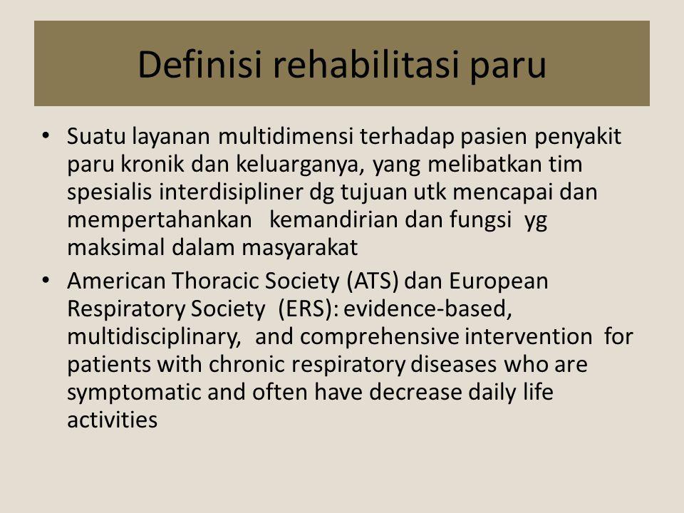 Definisi rehabilitasi paru