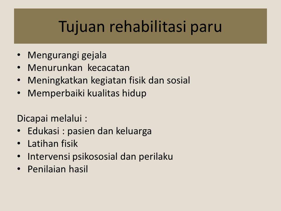 Tujuan rehabilitasi paru