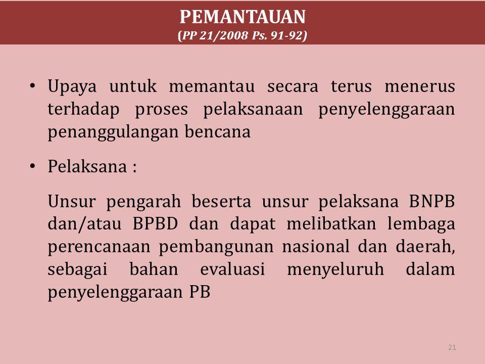 PEMANTAUAN (PP 21/2008 Ps. 91-92)