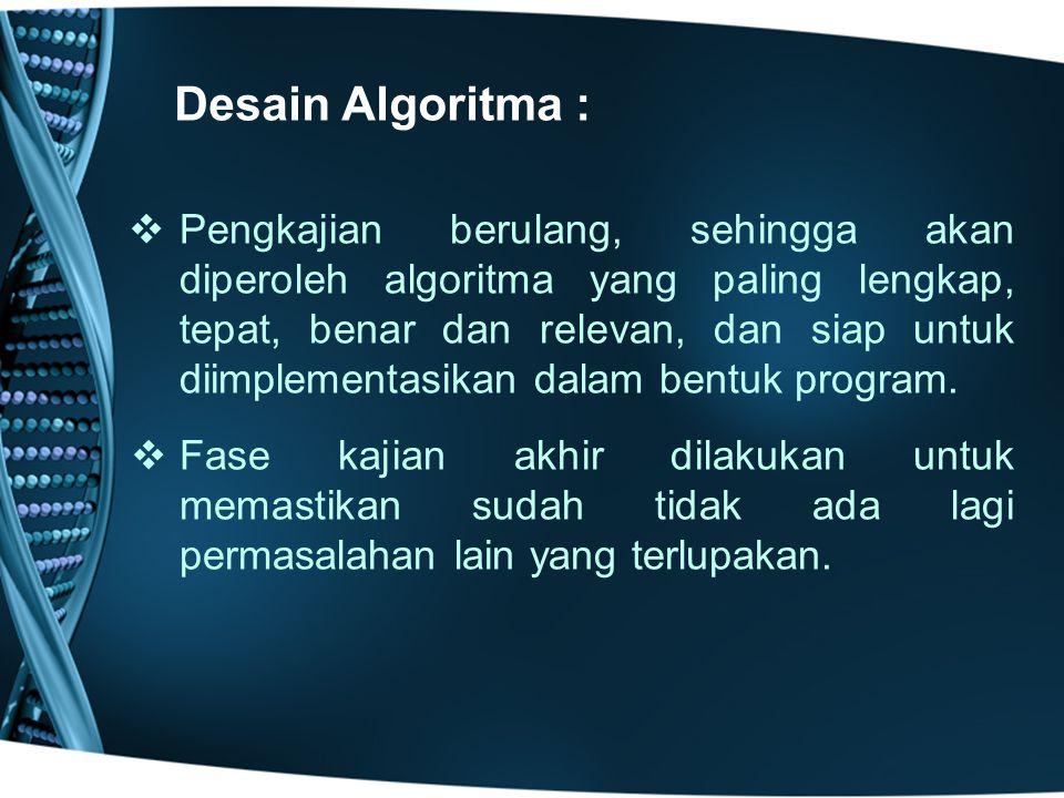 Desain Algoritma :