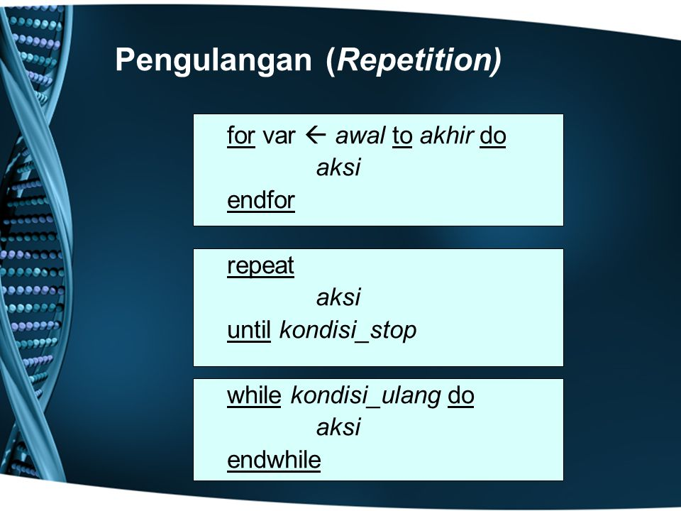 Pengulangan (Repetition)