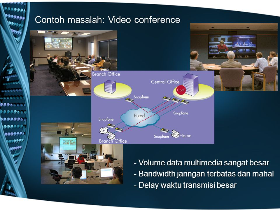 Contoh masalah: Video conference