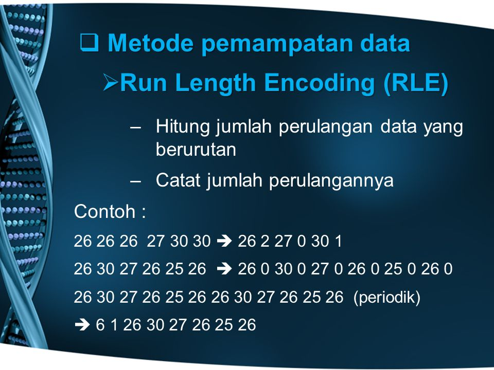 Metode pemampatan data Run Length Encoding (RLE)