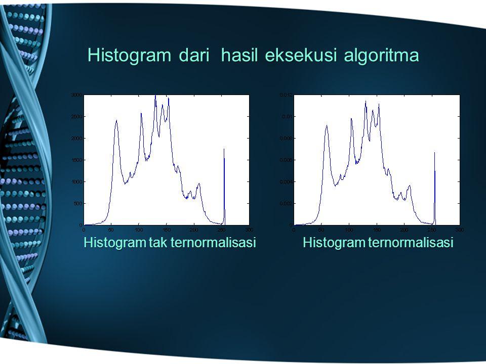 Histogram dari hasil eksekusi algoritma