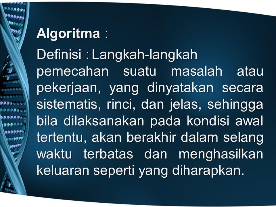 Algoritma :