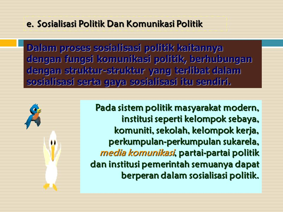 Sosialisasi Politik Dan Komunikasi Politik