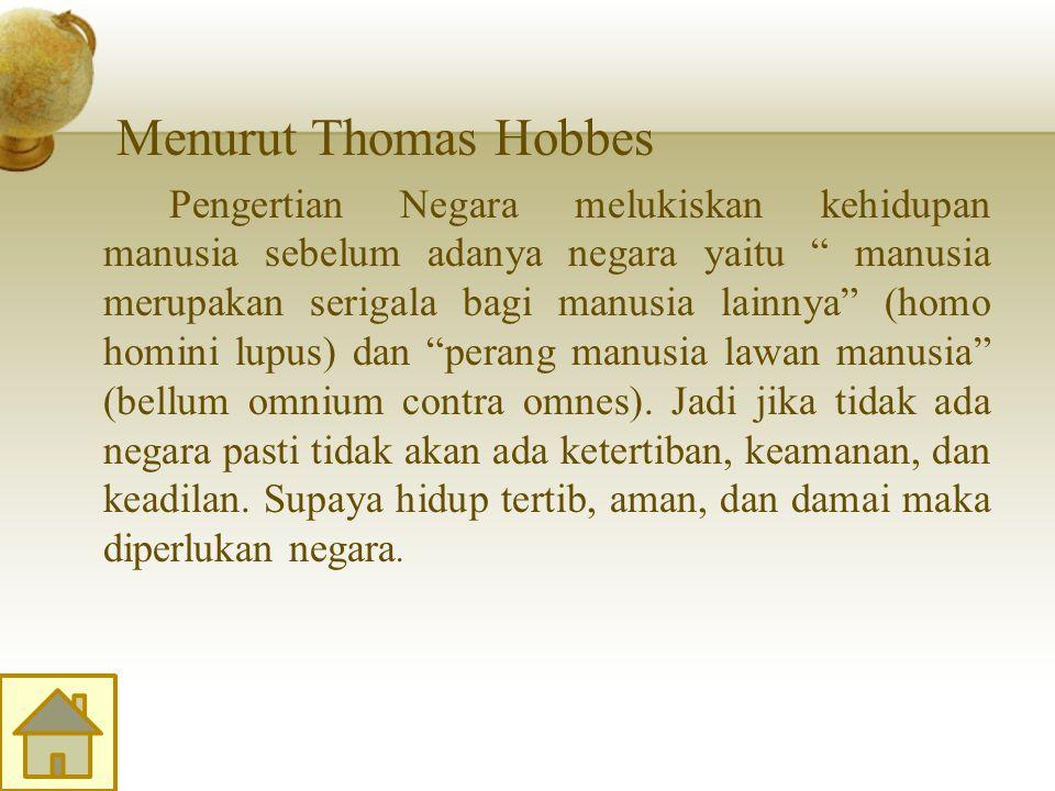 Menurut Thomas Hobbes