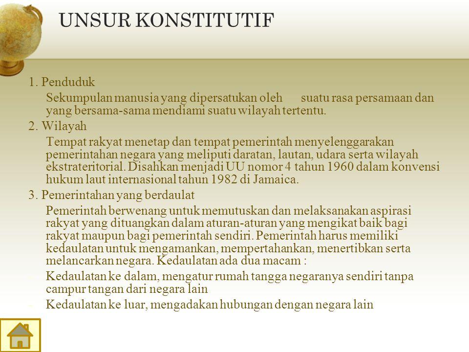 UNSUR KONSTITUTIF 1. Penduduk