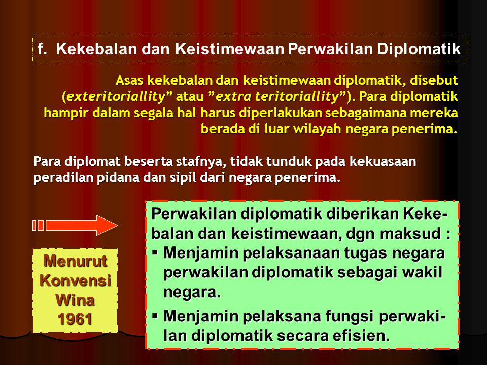 Kekebalan dan Keistimewaan Perwakilan Diplomatik