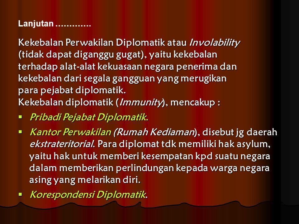 Kekebalan Perwakilan Diplomatik atau Involability