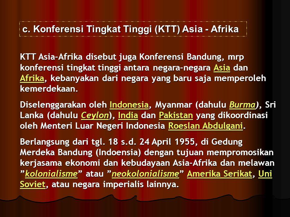 Konferensi Tingkat Tinggi (KTT) Asia - Afrika