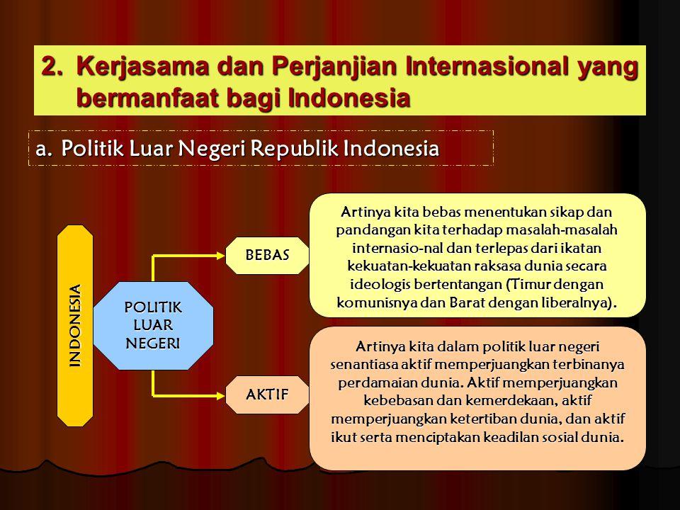 Kerjasama dan Perjanjian Internasional yang bermanfaat bagi Indonesia