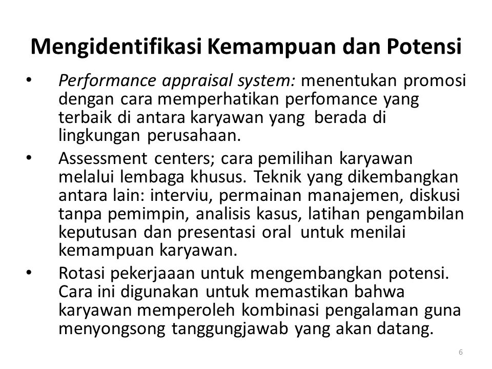 Mengidentifikasi Kemampuan dan Potensi