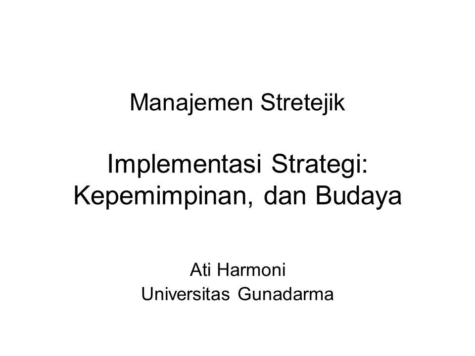 Manajemen Stretejik Implementasi Strategi: Kepemimpinan, dan Budaya