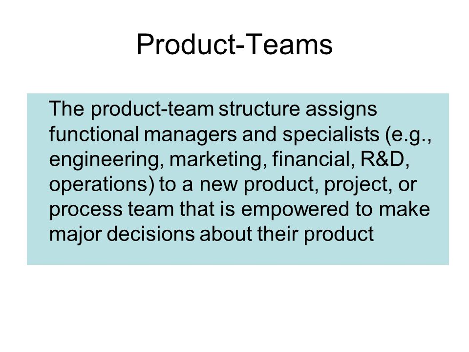 Product-Teams
