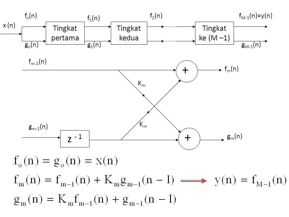 z - 1 Tingkat pertama Tingkat kedua Tingkat ke (M –1) fo(n) go(n)
