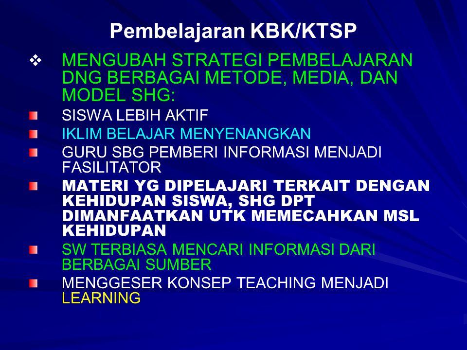 Pembelajaran KBK/KTSP