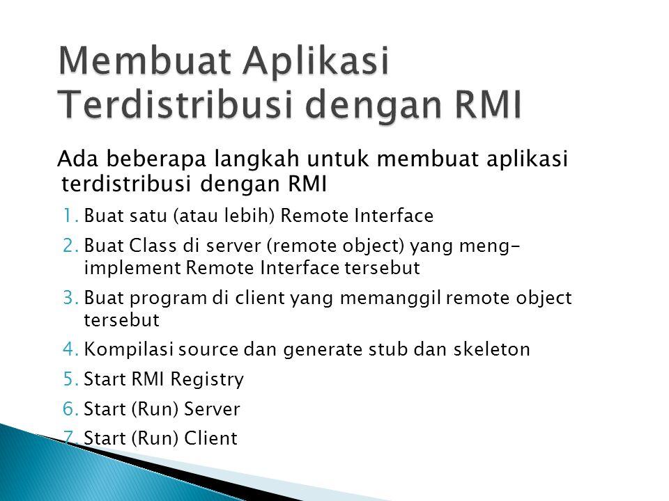 Membuat Aplikasi Terdistribusi dengan RMI