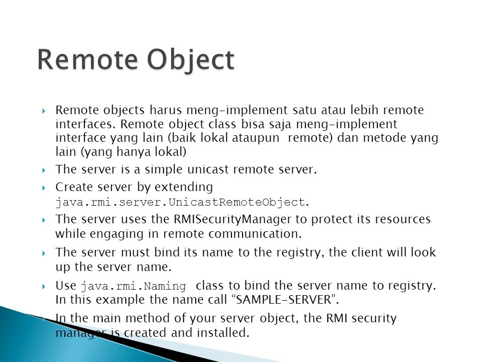 Remote Object