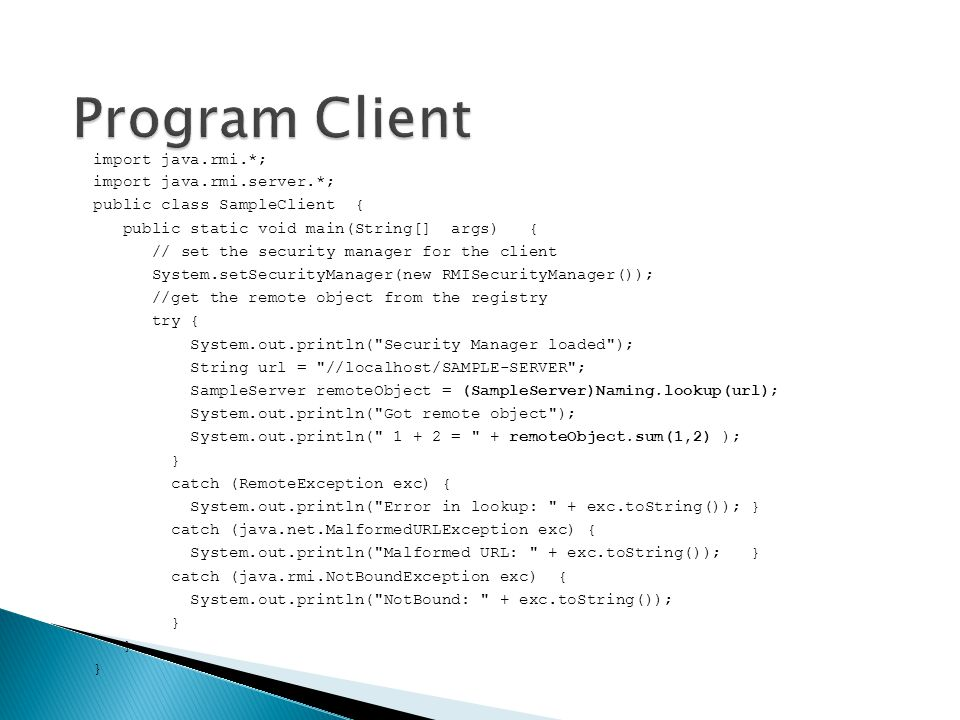 Program Client