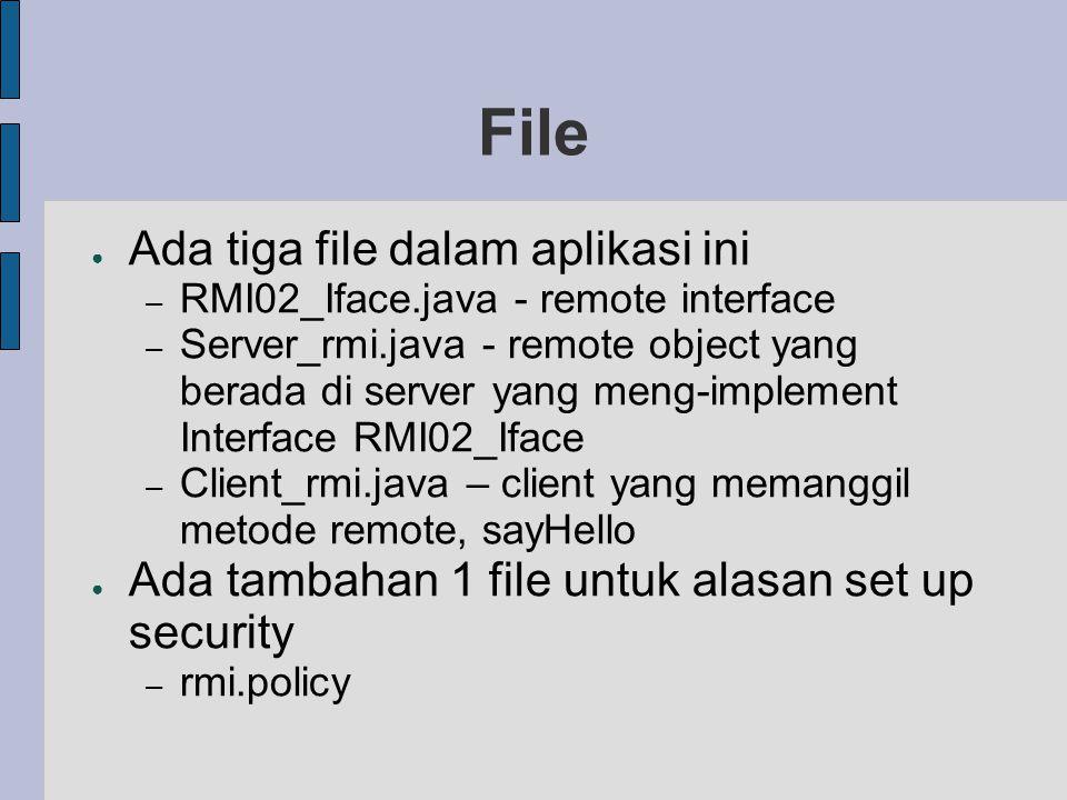 File Ada tiga file dalam aplikasi ini
