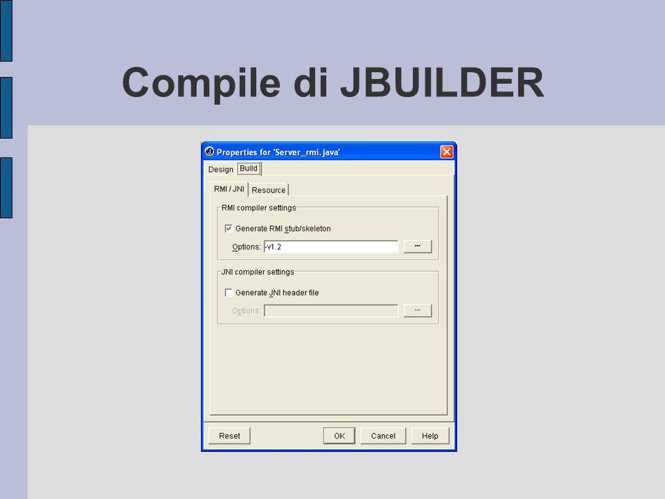 Compile di JBUILDER