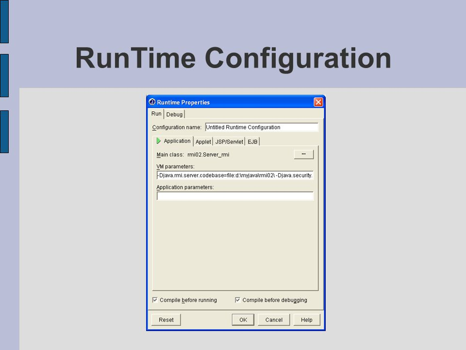 RunTime Configuration