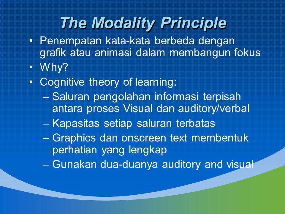 The Modality Principle