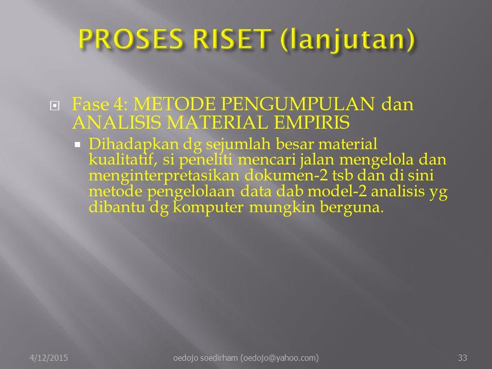 PROSES RISET (lanjutan)