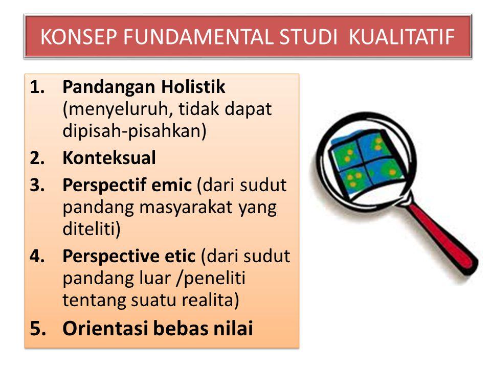 KONSEP FUNDAMENTAL STUDI KUALITATIF