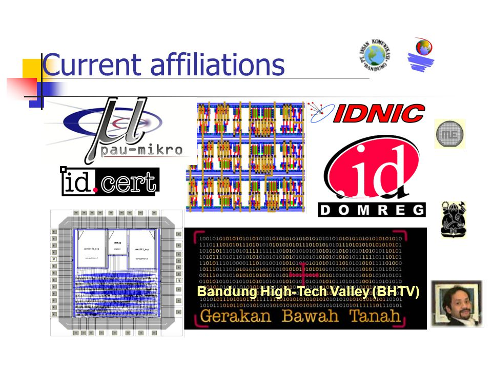Current affiliations Bandung High-Tech Valley (BHTV)