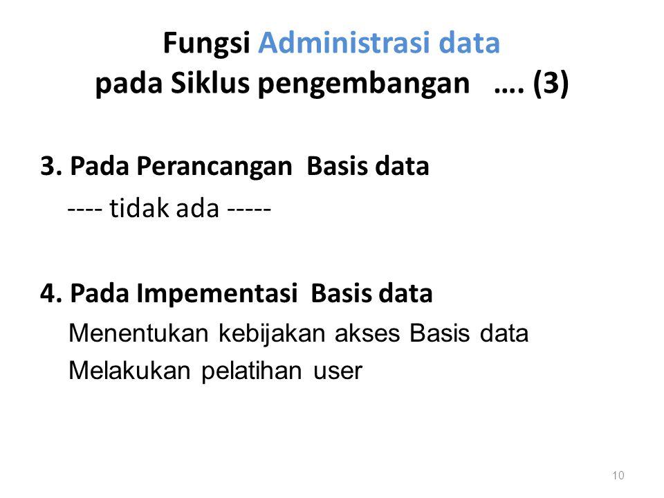 Fungsi Administrasi data pada Siklus pengembangan …. (3)