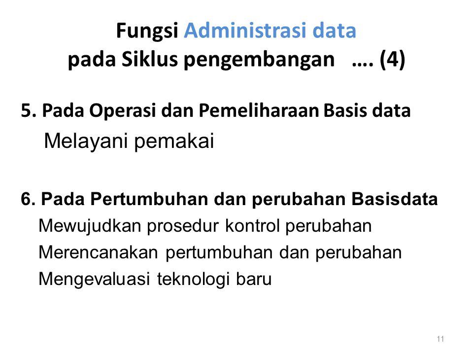 Fungsi Administrasi data pada Siklus pengembangan …. (4)