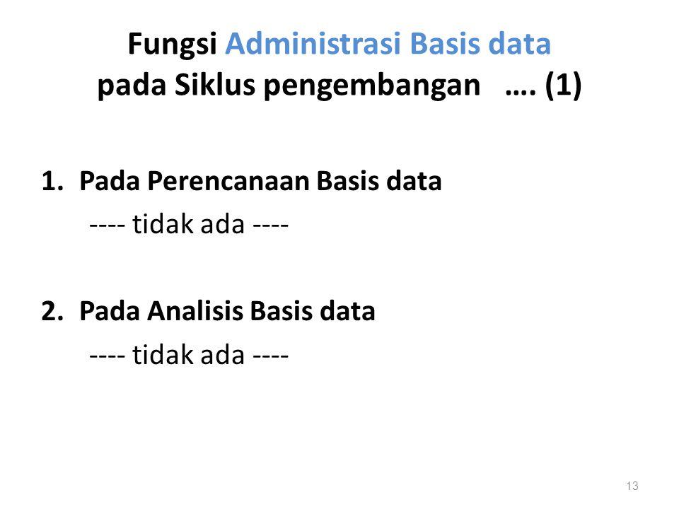 Fungsi Administrasi Basis data pada Siklus pengembangan …. (1)