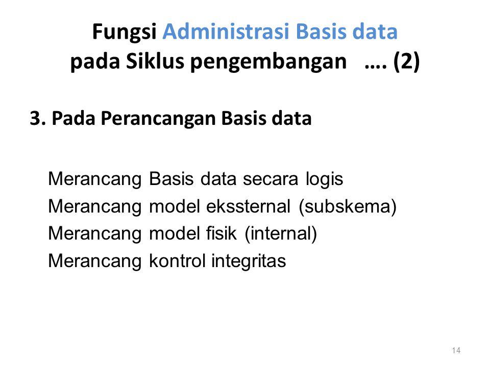 Fungsi Administrasi Basis data pada Siklus pengembangan …. (2)