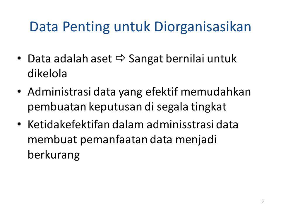 Data Penting untuk Diorganisasikan