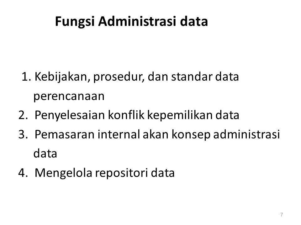 Fungsi Administrasi data