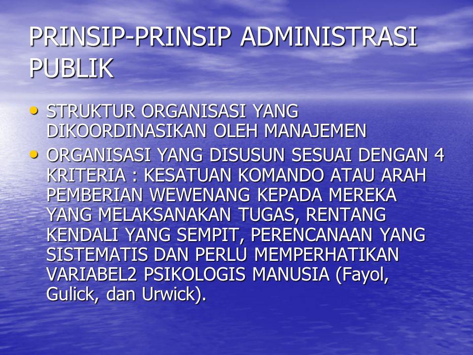 PRINSIP-PRINSIP ADMINISTRASI PUBLIK