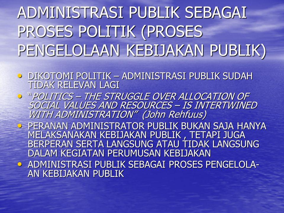ADMINISTRASI PUBLIK SEBAGAI PROSES POLITIK (PROSES PENGELOLAAN KEBIJAKAN PUBLIK)