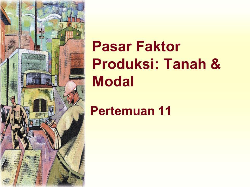 Pasar Faktor Produksi: Tanah & Modal