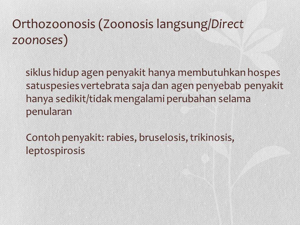 Orthozoonosis (Zoonosis langsung/Direct zoonoses)