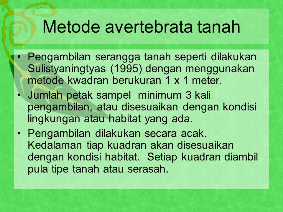 Metode avertebrata tanah