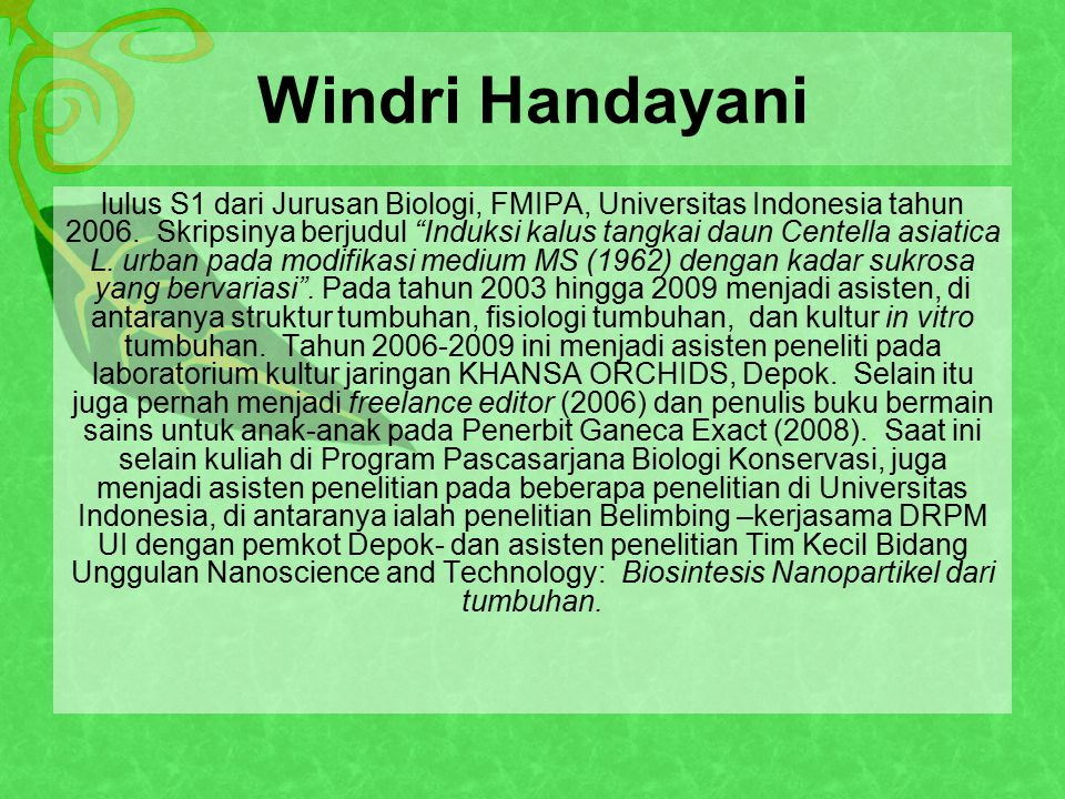 Windri Handayani