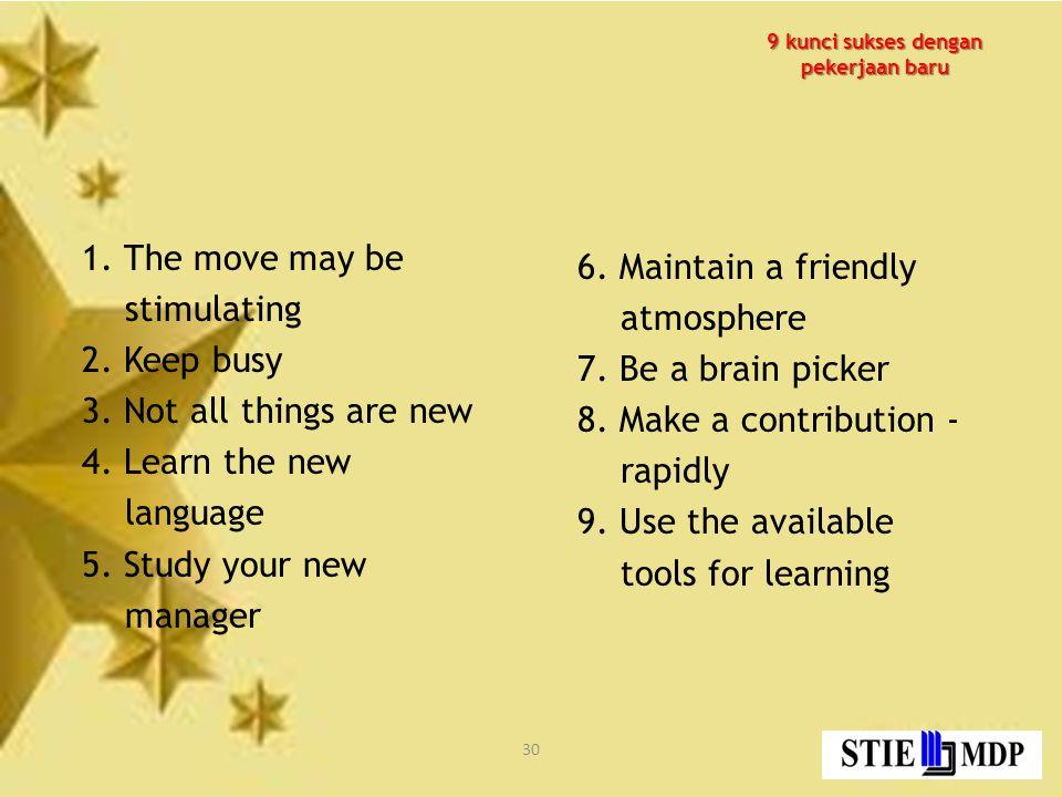 9 kunci sukses dengan pekerjaan baru