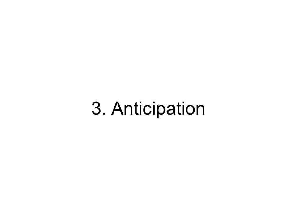 3. Anticipation