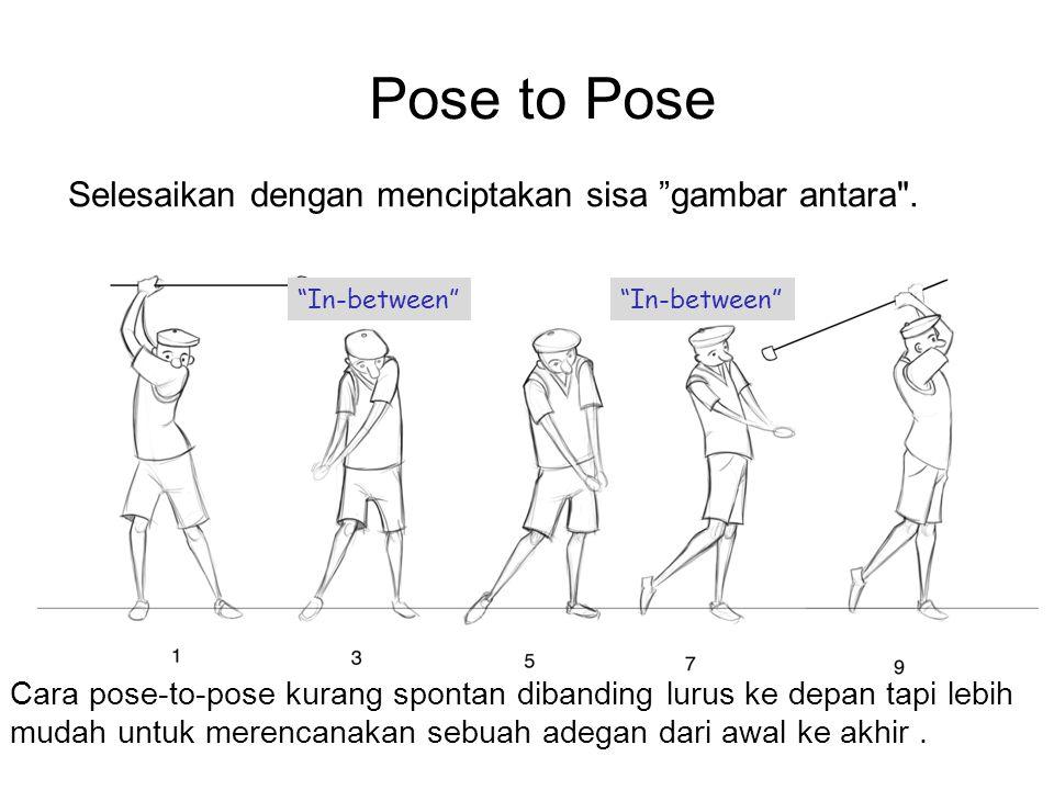 Pose to Pose Selesaikan dengan menciptakan sisa gambar antara .