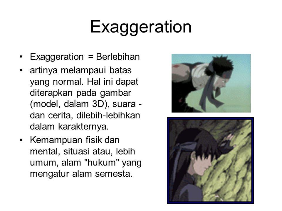Exaggeration Exaggeration = Berlebihan
