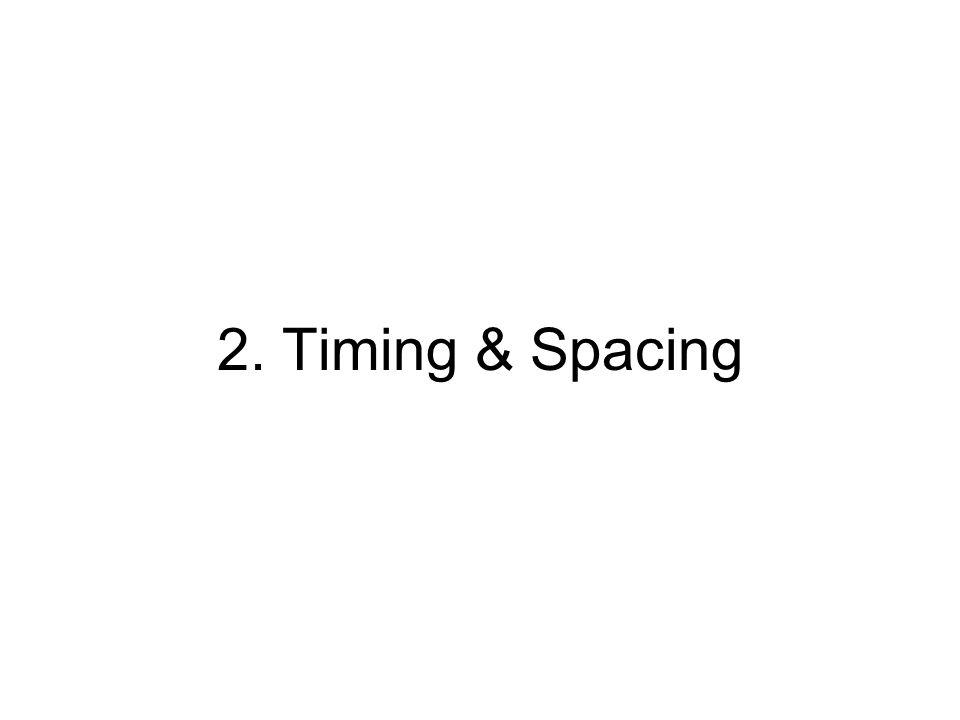 2. Timing & Spacing