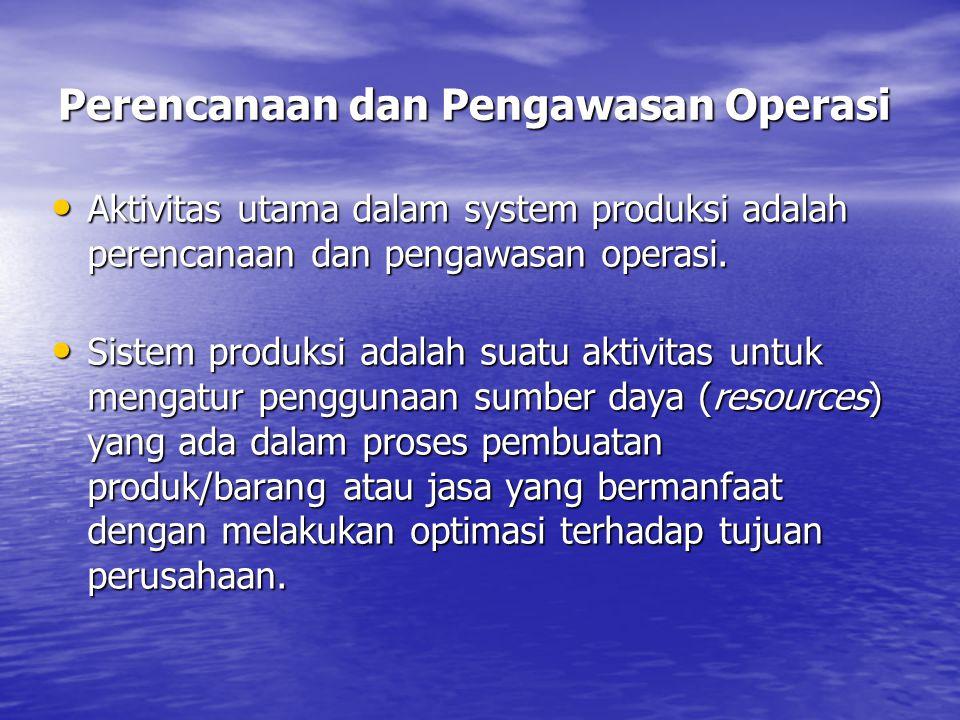 Perencanaan dan Pengawasan Operasi