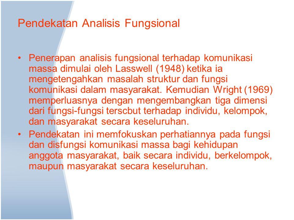 Pendekatan Analisis Fungsional